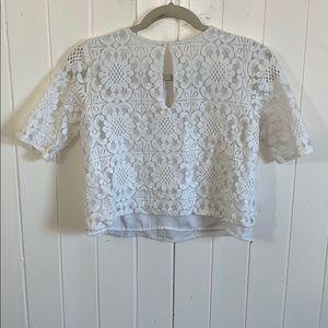 Abercrombie short sleeve shirt. White lace